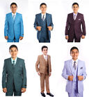 Boys 5 Piece Suit Kids Toddler Formal Dress Ring Bearer Suits With Shirt  Tie
