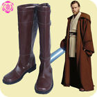 Star Wars Jedi Obi-Wan Kenobi Cosplay Shoes Brown Boots $48.99 USD on eBay