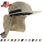 Boonie Snap Hat Brim Ear Neck Cover Sun Flap Cap Visor Fishing Hiking Garden Men