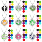 Hq Stainless Steel Aromatherapy Essential Oil Diffuser Locket Pendant Necklace