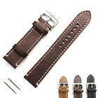 20mm 22mm Extra Soft Genuine Leather Watch Band Replacement Strap for Men Women  image