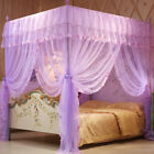 Mosquito Canopy For Twin Queen Cal King Size Net Post Bed Sweet 4 Corners Dream image