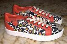 COACH Paddy Floral Canvas Leather Trim Casual Shoes Sneakers NEW Womens Sz 6 7
