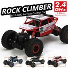 1/18 4WD RC Monster Truck Off-Road Vehicle 2.4G Remote Control Buggy Crawler Car