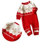 0-24M Newborn Baby Boy Girls Cute Warm Romper Jumpsuit Winter Sweaters Bodysuit
