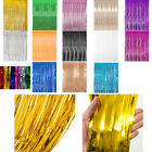 9.8*3ft Metallic Fringe Curtain Party Foil Tinsel Room Door Wedding Party Home