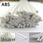 White ABS Styrene Plastic Strip Tube Building Model Round Square Bar Rod 250mm L