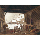 A Stable in the Snow - R Hills Medici Print