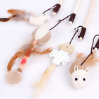 Cat Kitten Pet Teaser Feather, Bell & Mouse toy wand