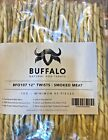 12'' Buffalo Rawhide Twists Natural Dog Treats Smoked Meat flavoured chew
