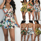 US Summer Womens Holiday Jumpsuit Playsuit Mini Shorts Beach Party Floral Romper