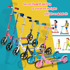 Folding 2 Wheels Kick Scooter Outdoor Kid & Adult Ride Sport Exercise Adjustable