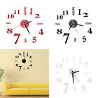 DIY Large 3D Number  Wall Stickers  Watch Home Decor Art Clock PR