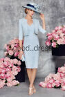 2018 HOT Mother Of The Bride Formal Dress Outfits With Jacket Evening Dress 6-18