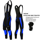 Mens Cycling Bib Tights Long Compression Pants Padded MTB Road Bike Lycra NEW