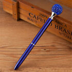New Metal Ballpoint Pen With Big Crystal Diamond 10 Colors Black Ink M&R