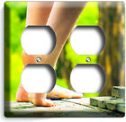 BARE FEET SOLES SEXY LEGS LIGHT SWITCH OUTLET PLATE BATHROOM ROOM HOME ART DECOR