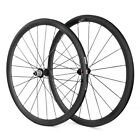 700C 38mm Tubular Carbon Road Bike Wheelset With 3K Brake Surface CC38T