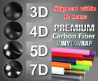 3 4 5 7D Glossy Carbon Fiber Wrap Vinyl Decal Film Sticker Car Air Release Wrap $0.99 USD on eBay