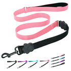 Nylon Dog Leash Handle Leash with Stretch Elastic Bungee Soft Padded Handle Lead