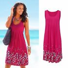 US Women's Summer Boho Short Midi Dress Cocktail Evening Party Beach Sundress