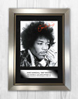Jimi Hendrix (1) A4 signed mounted photograph picture poster. Choice of frame.