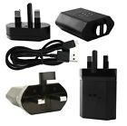 Genuine Blackberry RC-1500 UK Wall Mains Charger Adapter & Micro Data Cable Blak