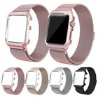 Milanese Stainless Steel iWatch Band Strap With Case For Apple Watch 42mm 38mm image