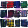More images of CC New Mens Kilt Fly Plaid with 5 Stones Brooch in Different Tartans Colours