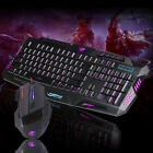 LED Gaming Wire Ergonomic Keyboard 5500DPI Mouse Mice Game Colorful Light Set