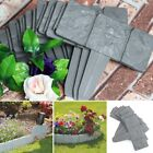 Garden Picket Fence Edging Panel Fencing Cobbled Plastic Lawn Flexible Border