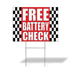 free battery check - Free Battery Check #1 Outdoor Lawn Decoration Corrugated Plastic Yard Sign