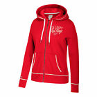 NHL Detroit Red Wings CCM Full Zip Fleece Hoodie Womens $52.56 USD on eBay