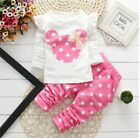 Mickey Disney Baby clothes kids girls tops pants Set Outfits autumn clothing dot
