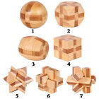Wooden Kongming Lock Brain Teaser Puzzle Children Adults Educational Game Toy Wo