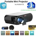 4600 Lumens Android 6.0 LCD LED 4K HD 1080p 3D Wifi Smart Home Theater Projector