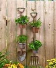 Hanging Planter Metal Garden Basket Wall Herb Pots Indoor Flower Rustic Outdoor