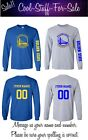 Golden State Warriors Logo Basketball Long Sleeve With Custom Name and Number on eBay