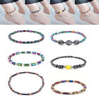 Uk Magnetic Anklet Hematite Stone Ankle Bracelet Health Care Weight Loss Jewelry