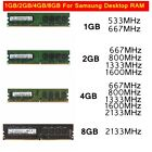 For Samsung  1GB / 2GB / 4GB / 8GB memory x 1 Desktop Unbuffered ram r wholesale