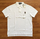 $98 NWT Polo Ralph Lauren Mens White Bear Polo Shirt Custom Fit Size M L XL XXL