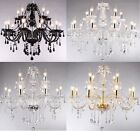 Crystal Chandelier Ceiling Lamp Pendent Light Glass Beads Mixed Huge Sizes