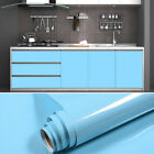 Blue Wallpaper Roll Self Adhesive Contact Paper Drawer Shelf Liner Kitchen Decor