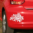 1pc Elegant Rose Car Sticker Reflective Warning Waterproof Window Cover 20x14cm