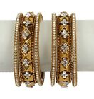 Fabulous Traditional Indian Bollywood Style Antique Gold Plated Polki Bangle