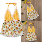 Newborn Baby Girl Strap Romper Bodysuit Sunsuit Floral Summer Clothes Outfits