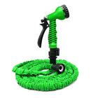 Deluxe Latex 25 50 75 100 Ft Expandable Flexible Garden Water Hose +Spray Nozzle
