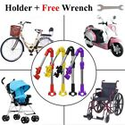 Wheelchair Bicycle Stroller Chair Umbrella Bar Holder Mount Stand Handle Bar US