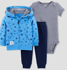 Baby Boy Sailboat Surf 3 PIECES Hoodie Jacket Pants Bodysuit NWT Carters
