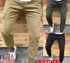 US Mens Army Trousers Pants Combat Military Cargo Waist Work Casual Summer Soild